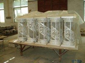 fiber and crystal pillars