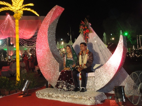 moon theme for varmala and ring ceremony