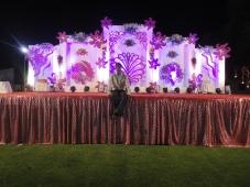 wooden box wedding stage